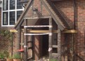 Porch undergoing refurbishment