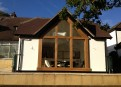 Bespoke oak gable