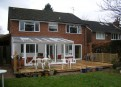 UPVC conservatory & decking