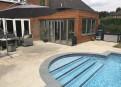 Pool room before pergola