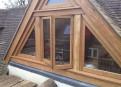 Oak front gable window detail