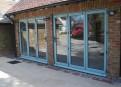 Triple fold doors (outside)