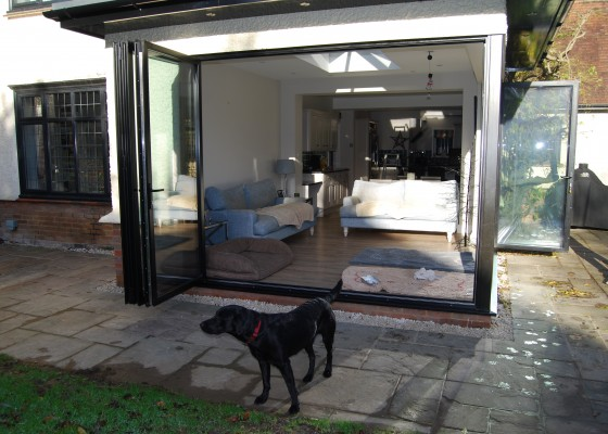 sunroom extension with doggy