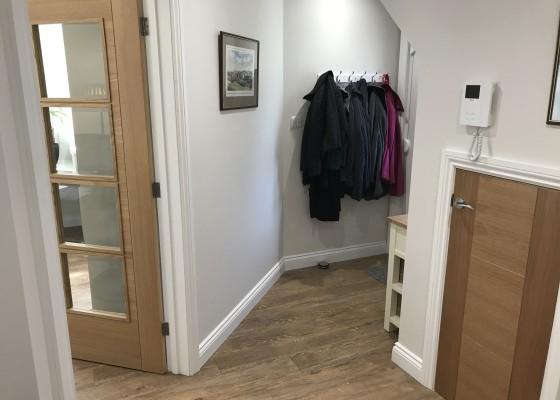 Flat conversion hallway