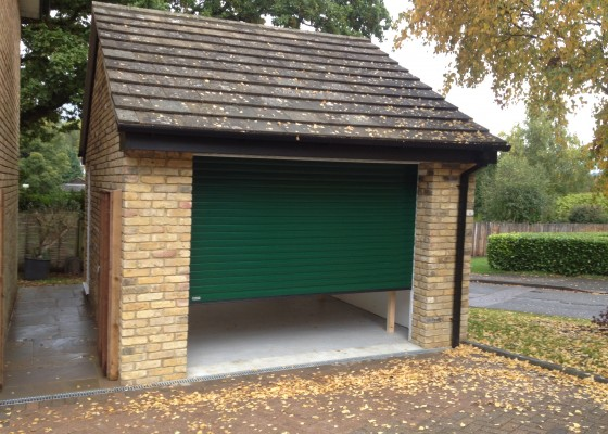 New garage with pitched roof