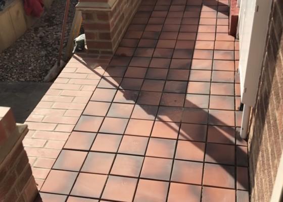 Flat conversion quarry tiling